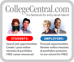 College Central Network advertisement with link